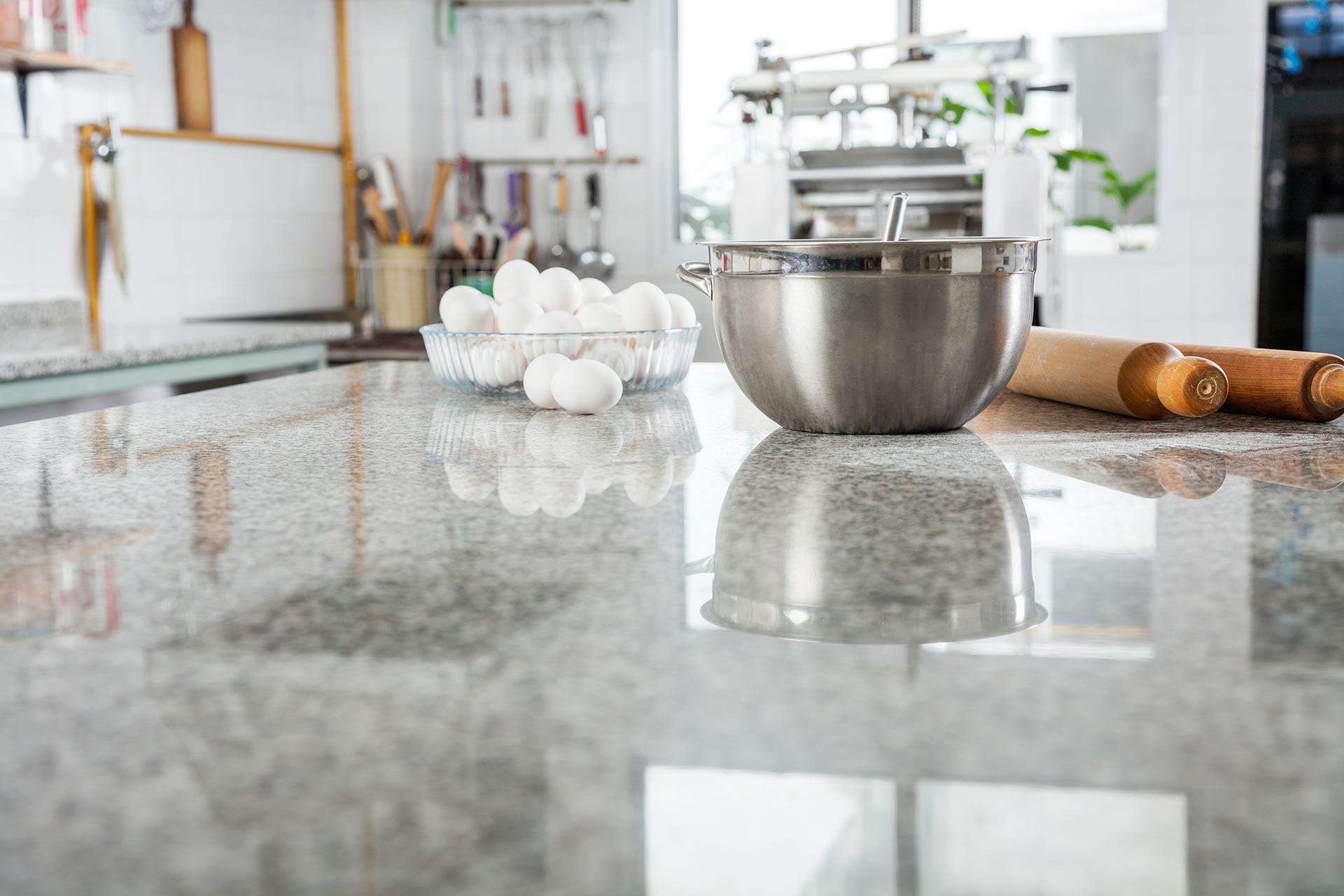 Porcelain kitchen countertop